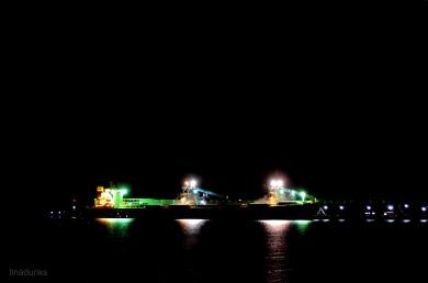 Night Filling Grain on Boston Bay