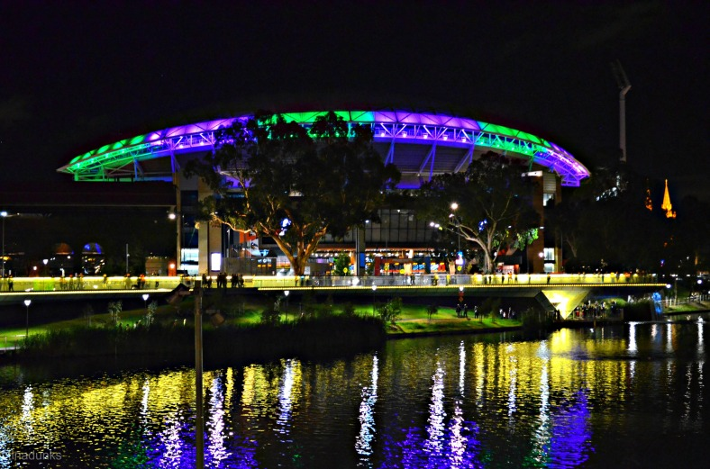 Across River Torrens to Adelaide Oval